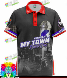 My Town Barbershop Polo-Shirt (Front)