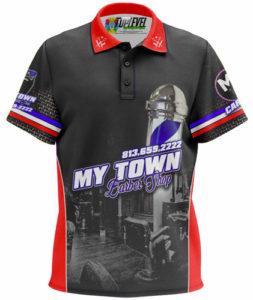 My Town Barbershop Polo Shirt by Toplevel Sportswear