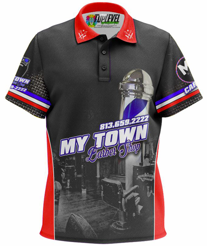 My Town Barbershop Polo Shirt by Toplevel Sportswear