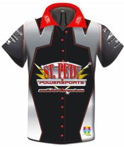 St. Pete Powersports Black Race Shirt by Toplevel Sportswear