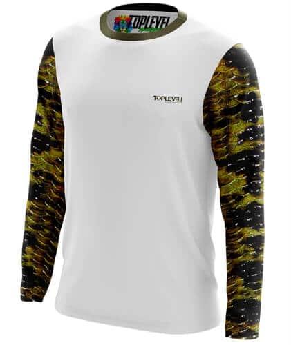 Large mouth bass performance fishing shirt toplevel for High performance fishing shirts
