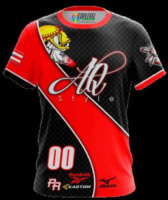 AQ Style Softball Shirt by Toplevel Sportswear.