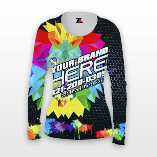 dye sublimation ladies long sleeve shirts toplevel sportswear Toplevel Sportswear | (321) 200-0305