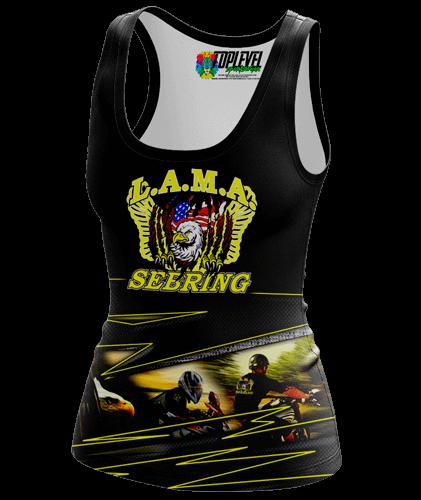 LAMA Sebring Raceback Tank-top by Toplevel Sportswear