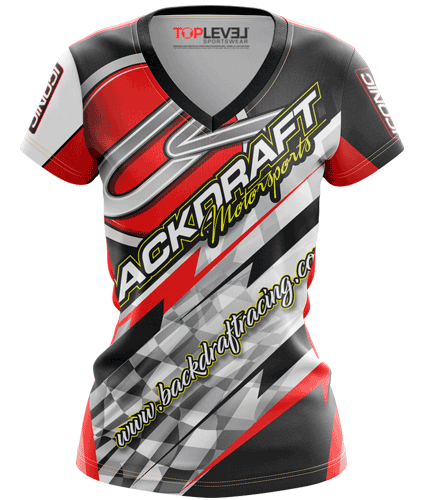 Backdraft Motorsports fitted shirts by Toplevel Sportswear