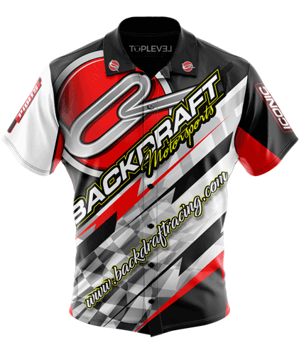 Backdraft Motorsports Racing Shirt by Toplevel Sportswear