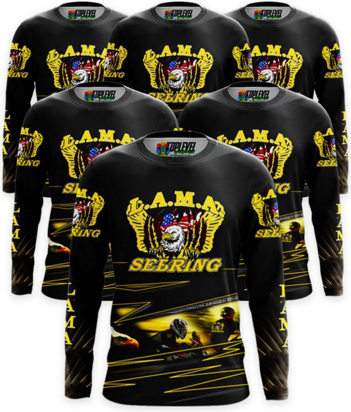 6-Pack Full Color Print Long Sleeve T-Shirts