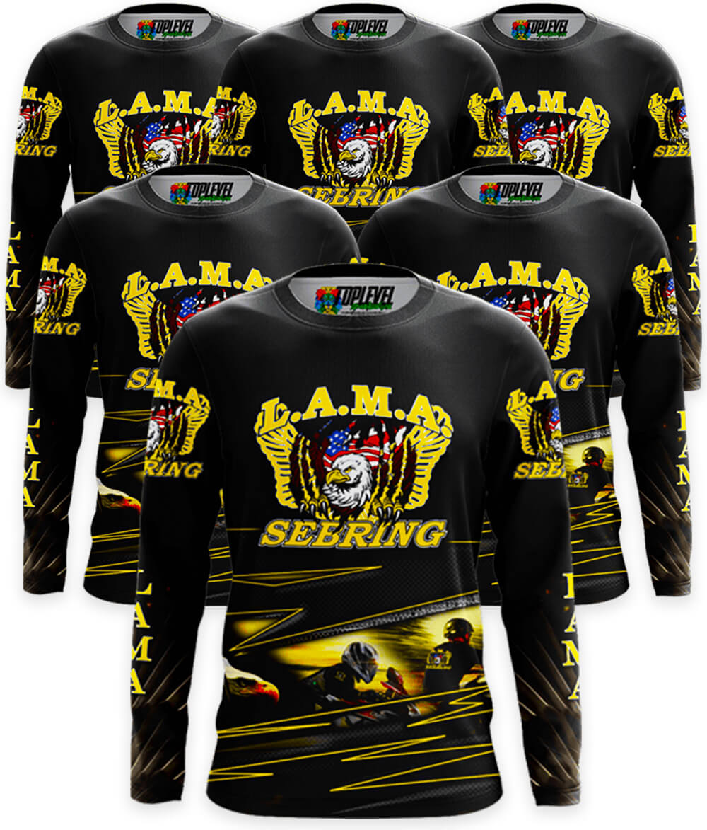 95076143ca8 6-Pack Full Color Print Long Sleeve T-Shirts