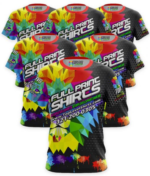 6-Pack Full Color Print T-Shirt