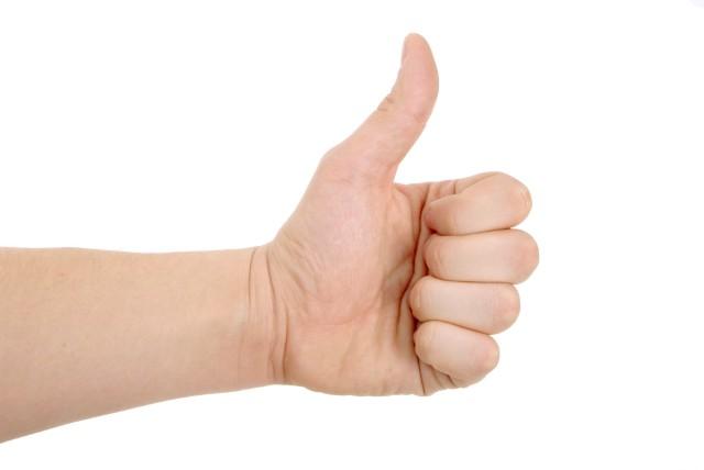 Hands thumbs up Toplevel Sportswear | (321) 200-0305