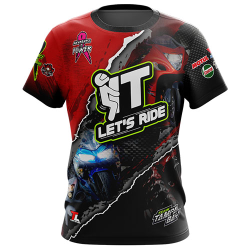 toplevel sportswear dye-sublimated t-shirts