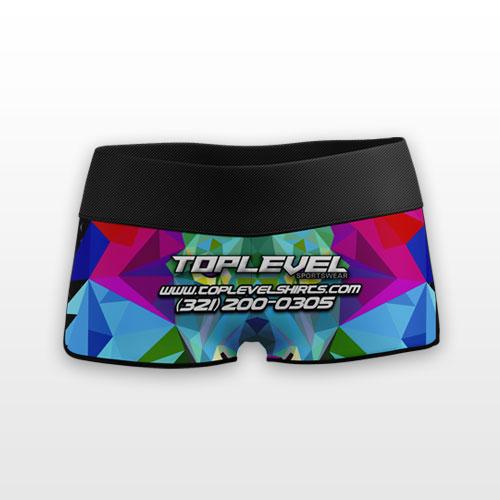 dye sublimation booty shorts toplevel sportswear Toplevel Sportswear | (321) 200-0305