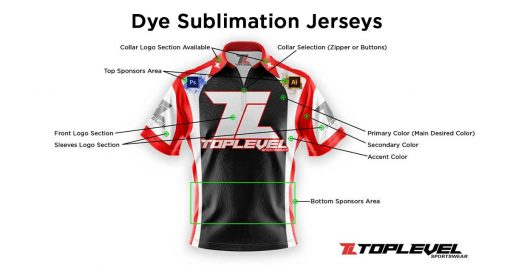 toplevel sportswear dye sublimation jerseys